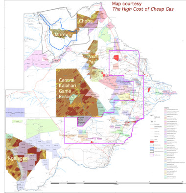 Botswana-map-consessions-parks-and-game-reserves-2013