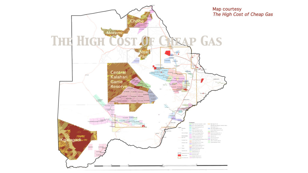 Natural gas development in the Central Kalahari Game Reserve, Botswana