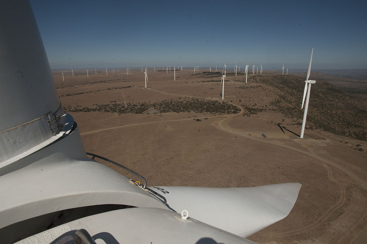 wind turbines in cookhouse south africa