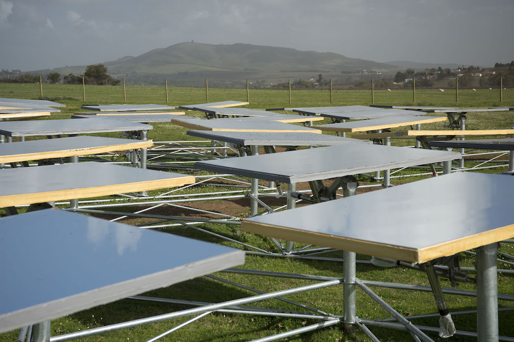 Helio100, University of Stellenbosch, Jeffrey Barbee, The Solar Thermal Research Group, concentrated solar power, mini heliostats, small-scale concentrated solar power, South Africa, solar power, renewable energy, concentrated solar power